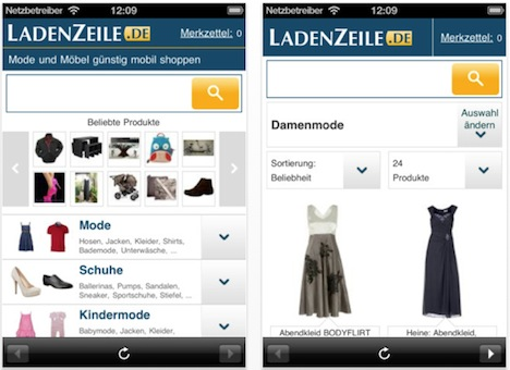 ladenzeile app tolle artikel zum g nstigen preis shoppen. Black Bedroom Furniture Sets. Home Design Ideas