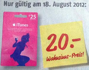 Nur Am 18 August Bei Medimax 20 Prozent Auf Itunes Karten Sparen