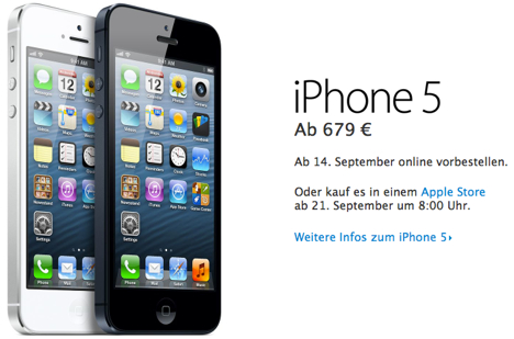 iphone 5 apple store iphone 5 vorbestellung im apple ab 09 00 uhr 14470