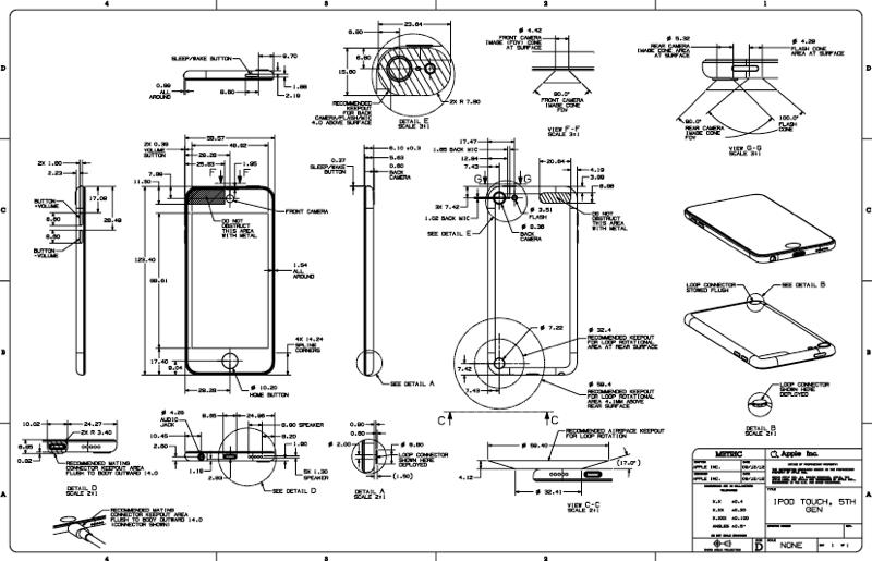 Apple veröffenlticht Skizzen zum iPod touch 5G und iPod