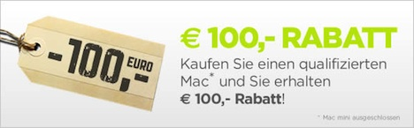 MacBook Pro, iMac und MacBook Air: 100 Euro Rabatt bei MacTrade