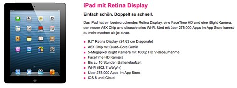 ipad 4 mit vertrag bei der telekom bestellen macerkopf. Black Bedroom Furniture Sets. Home Design Ideas