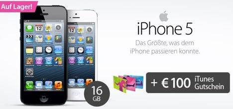 sparhandy iphone 5 mit vertrag und 100 euro itunes. Black Bedroom Furniture Sets. Home Design Ideas