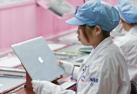 Apple Foxconn Mitarbeiter