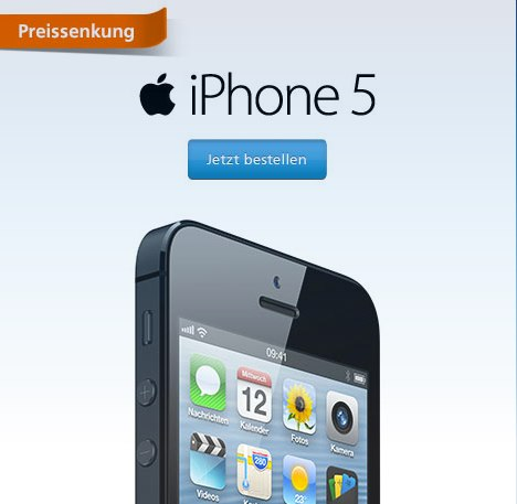 o2 iphone 5 mit vertrag preissenkung alle modelle. Black Bedroom Furniture Sets. Home Design Ideas