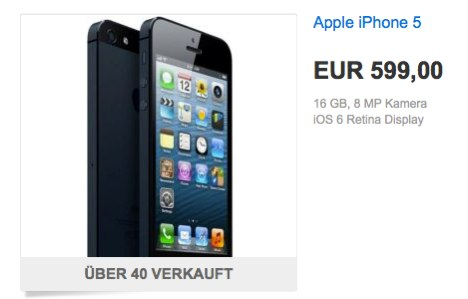 iphone 5 ohne vertrag f r 599 euro bei ebay wow macerkopf. Black Bedroom Furniture Sets. Home Design Ideas