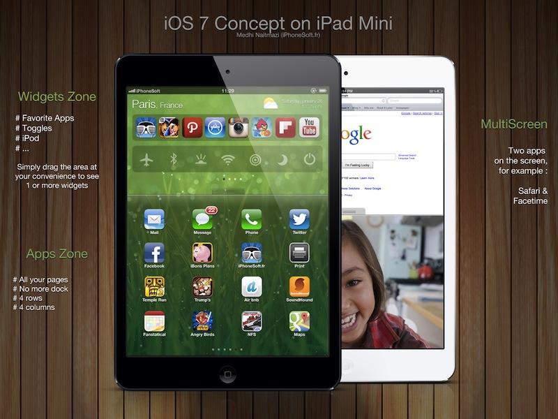 iPad mini: So könnte iOS 7 aussehen › Macerkopf