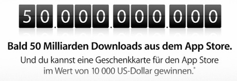 Countdown läuft: 50 Milliarden App Store Downloads