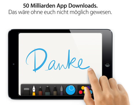 50 Milliarden App-Downloads erreicht