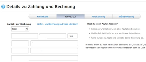 german online apple store now accepts paypal. Black Bedroom Furniture Sets. Home Design Ideas