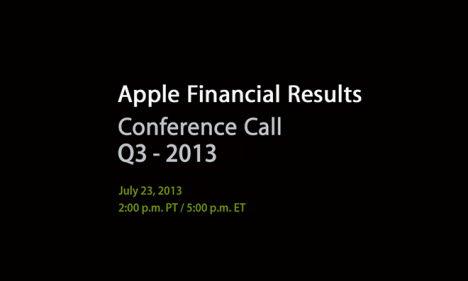Apple Conference Call Q3 Juli 2013