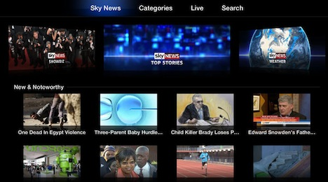 Apple TV Sky news