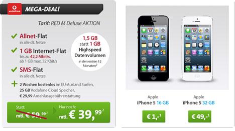 iphone 5 samsung galaxy s4 oder htc one mit allnet flat f r 1 euro monatlich nur 39 99 euro. Black Bedroom Furniture Sets. Home Design Ideas