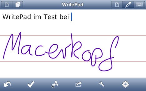 WritePad iPhone