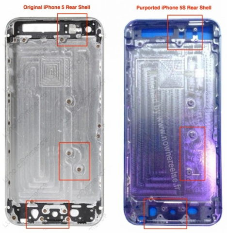leak iphone 5s design bauteile 08-2013