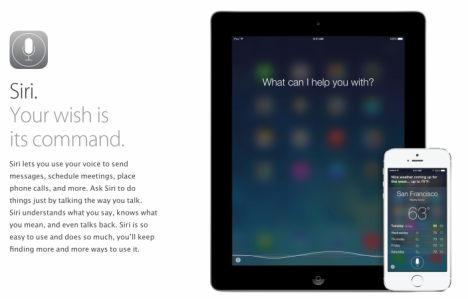 iOS 7 Siri Anzeige