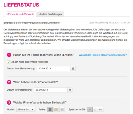 iphone 5s lieferstatus bei der telekom abfragen macerkopf. Black Bedroom Furniture Sets. Home Design Ideas