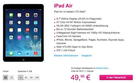 iPad Air von Apple jetzt mit Vertrag online bestellen | Telekom-1