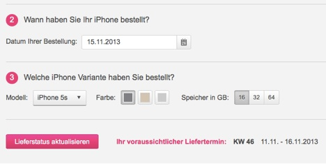 lieferzeit iphone 5s mit vertrag bei der telekom. Black Bedroom Furniture Sets. Home Design Ideas