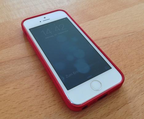 Iphone  Leder Case Test