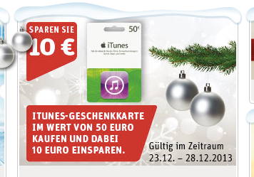 rewe 20 prozent rabatt auf 50 euro itunes karte macerkopf. Black Bedroom Furniture Sets. Home Design Ideas