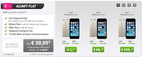 sparhandy iphone 5s mit telekom vertrag nur 1 euro. Black Bedroom Furniture Sets. Home Design Ideas