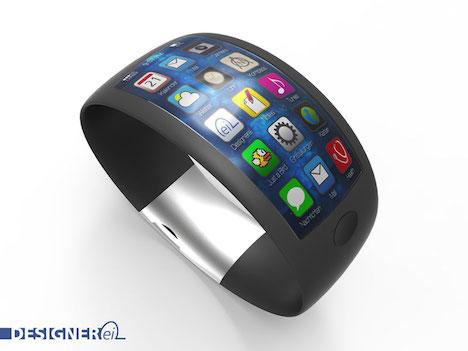Iwatch konzept zeigt sensoren gebogenes glas und apps for Bo konzept