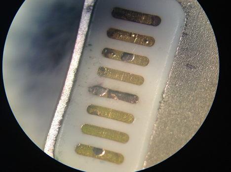 korrosion lightning kabel - vergroessert