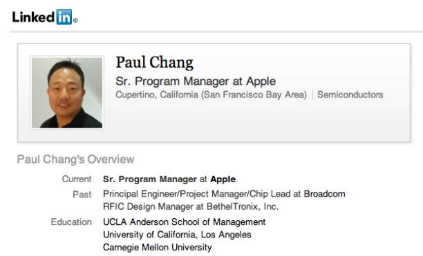 LinkedIn Paul Chang