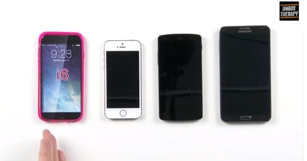 video zeigt iphone 6 case im vergleich zum iphone 5s. Black Bedroom Furniture Sets. Home Design Ideas