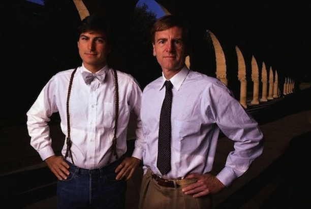 1984: Steve Jobs (links) and John Sculley (rechts)