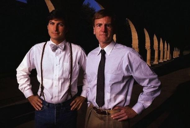 1984: Steve Jobs (links) and John Sculley (rechts)