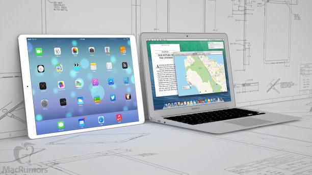 12,9 Zoll iPad vgl 13 Zoll MacBook Air