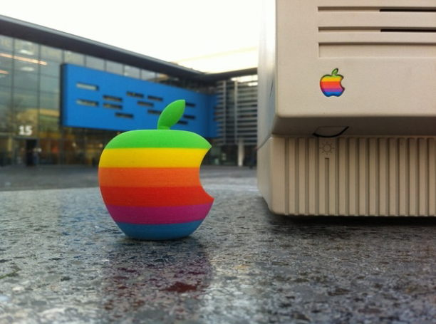 Retro Apple Logo in 3D von arguncencen auf Shapeways