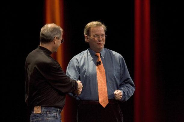 Steve Jobs and Eric Schmidt 2007