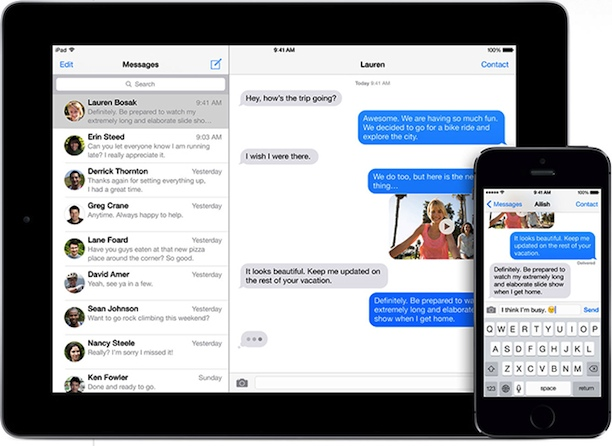 iMessage ipad iphone