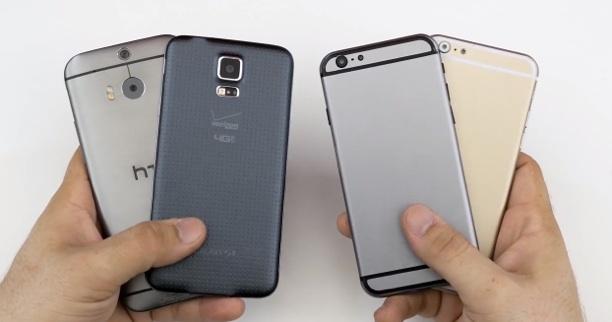 videos iphone 6 dummys im vergleich mit iphone 5s htc. Black Bedroom Furniture Sets. Home Design Ideas