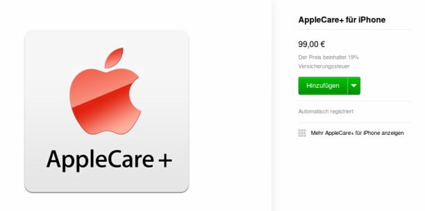 applecare+ für iphone