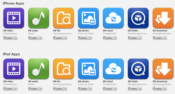 Synology aktualisiert DS download, DS video, DS photo+ und DS file