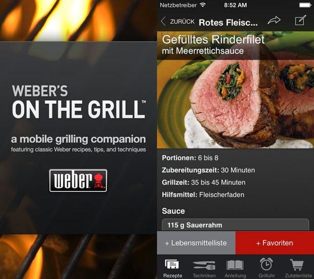 der grill ruft die weber s on the grill app l dt zum grillen ein macerkopf. Black Bedroom Furniture Sets. Home Design Ideas