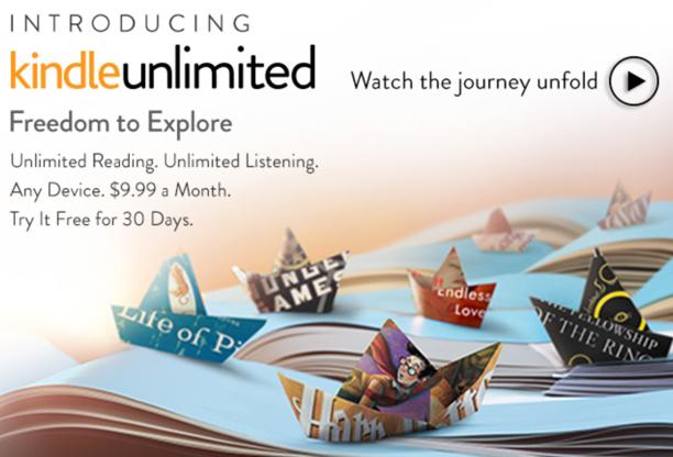 Kindle Unlimited: Amazon startet Bücher-Flatrate für 9,99