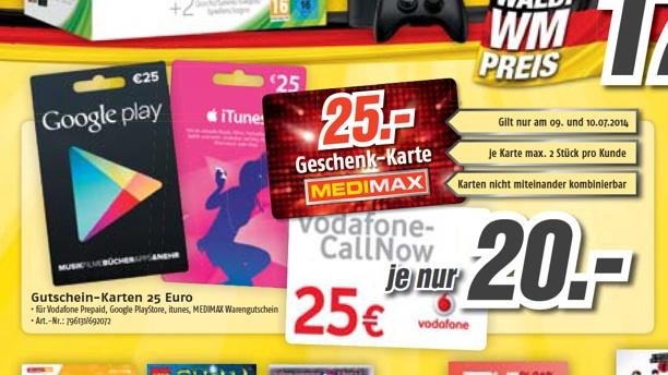 Itunes Karten 20 Prozent Rabatt Bei Medimax Macerkopf