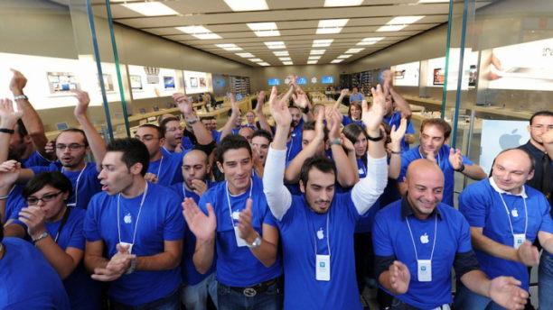 apple store angestellte