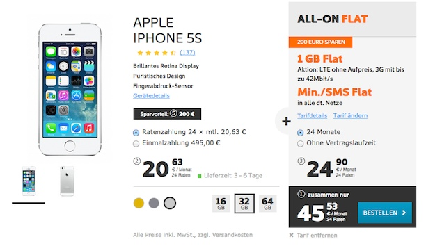 lohnt es sich ein iphone 5s zu kaufen