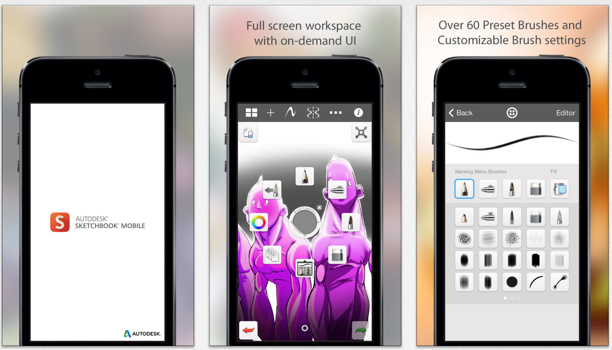 app der woche autodesk sketchbook f r iphone und ipad kostenlos macerkopf. Black Bedroom Furniture Sets. Home Design Ideas