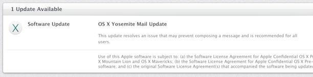 Yosemite Mail Update
