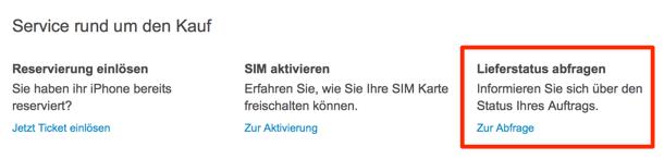iPhone 6 Telekom LIeferstatus