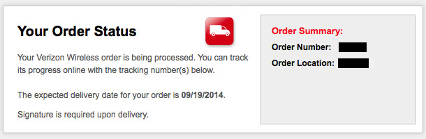 iPhone 6: Versandbenachrichtigung FedEx