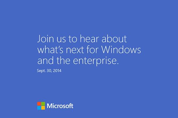 Windows 9 Event - Einladung