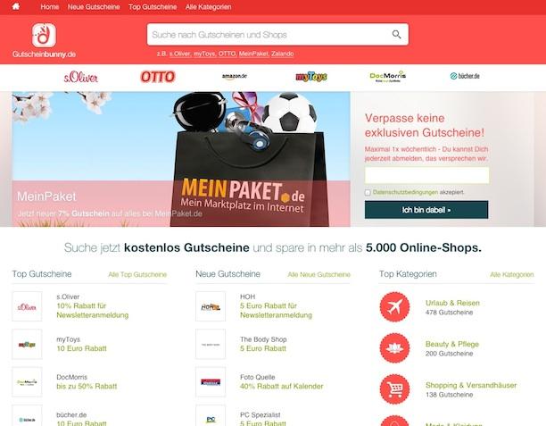 Gutscheinbunny Site